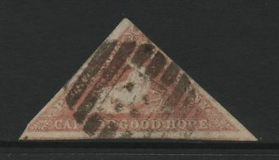 Cape of Good Hope 1d Red Hope Imperf Triangle Used