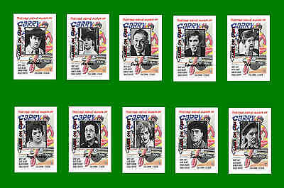 Carry On Cabby -  Film Character Postcards Set # 1