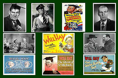 Will Hay  -  Movie Poster & Photo Postcards Set 1