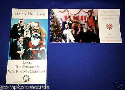 RARE(2) Strokes Happy Holidays PROMO CHRISTMAS CARD Wiz Kid Management