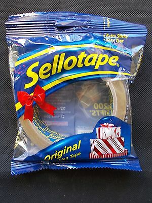 Sellotape Branded Original Golden Packing Wrapping Gifts Tape Roll - 24mm x 50m