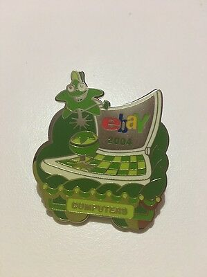 eBay Live New Orleans 2004 Green Monochromatic Computers Category Pin Sealed