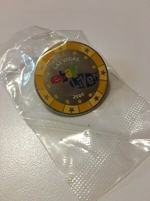 eBay Live Las Vegas 2006 Yellow Collectible Poker Chip Pin Sealed