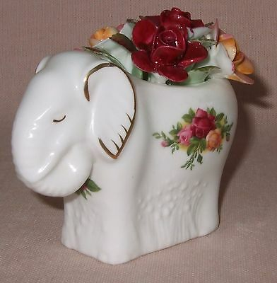 Royal Albert Old Country Roses Elephant With Roses, Animal, Figurine
