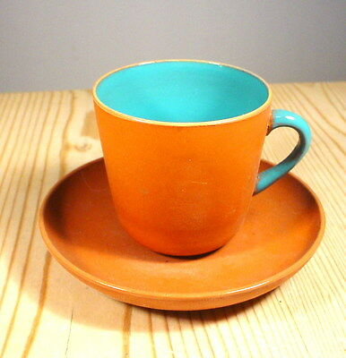 Watcombe Torquay 19th C. Terracotta Cup & Saucer