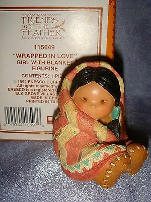 Friends of the Feather - 115649 -MIB- WRAPPED IN LOVE - Indian Girl with Blanket