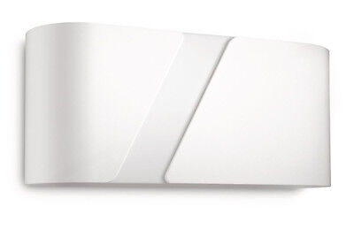 Philips 33246/31/16 Modern Decorative Contemporary White Metal Wall Light IP20