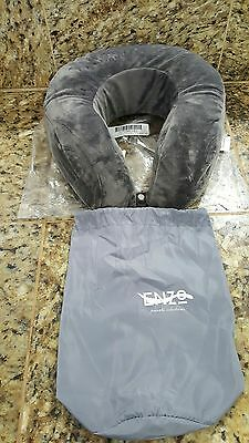 Enzo Travel Neck Pillow - Memory Foam Cooling Gel Technology and Washable Cover