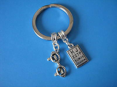 Opticians Keyring Glasses Eye Test Chart Spectacles Optometry Handmade Keychain