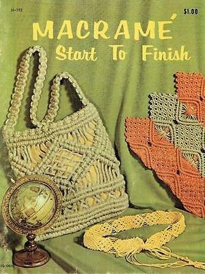 Vintage 70s Booklet - Macrame - Start to Finish - Projects & Ideas