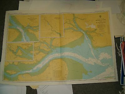 Vintage Admiralty Chart 3741 ENGLAND - RIVERS COLNE & BLACKWATER 1981 edn