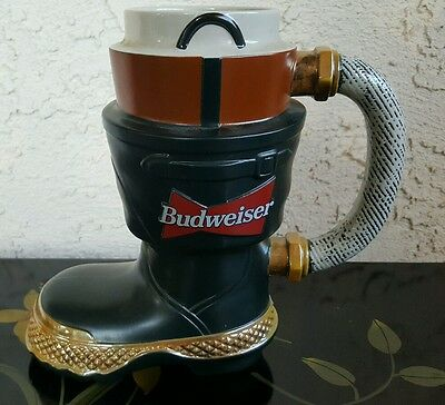 Budweiser Fire Fighter's Boot Stein 1997 Salutes The Fire Fighters Series