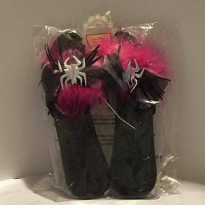 Little Girl Shoes Spider Pink Black Costume Accessory Dress Up Ages 3+