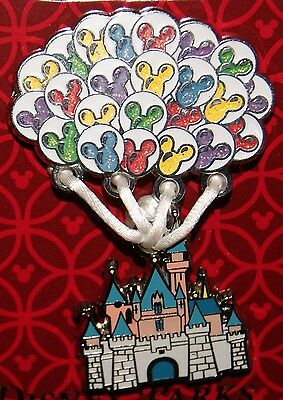 Disney UP Sleeping Beauty Lifted (Flying) with Mickey Balloons Pin