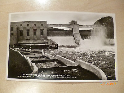 Topographical Photo postcard - hand dated 1962 - PITLOCHRY Hydro power Station