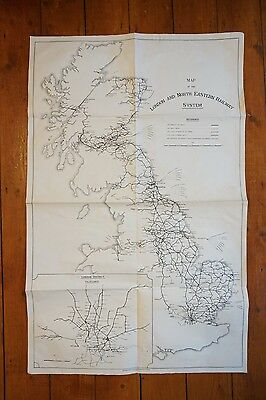 1925 LNER System Railway Map London North Eastern Railway