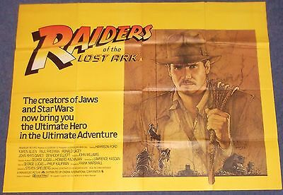 Steven Spielberg RAIDERS OF THE LOST ARK (INDIANA JONES ) Original UK Quad