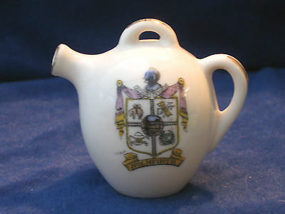 Willow Art Crested China Puzzle Teapot - Holmfirth