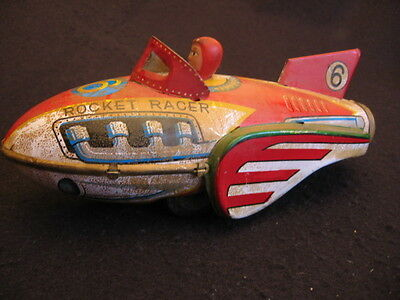 VINTAGE TINPLATE TOY 'ROCKET RACER' JAPAN/CHINESE c.1960's COLLECTABLE NOT TOY