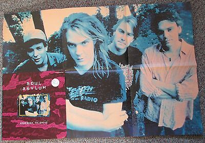 "Soul Asylum Somebody To Shove + Runaway Train (Live) 4 Track 12"" + Poster 1993"
