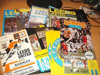 14 Old Leeds United  Home Football Programmes
