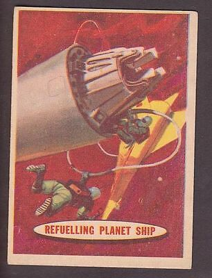 "Card from ""Space Cards"" issued by A&BC in 1958 no.70 Refuelling Planet Ship"