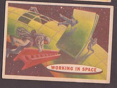 "Card from ""Space Cards"" issued by A&BC in 1958 no.52 Working in Space"