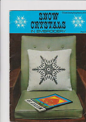1968 Vintage Snow Crystal In Embroidery Booklet Retro Christmas Inc Transfer