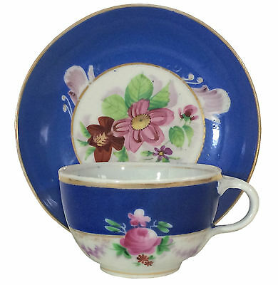 19th Century Francis Gardner Imperial Russian Porcelain Cup & Saucer #1