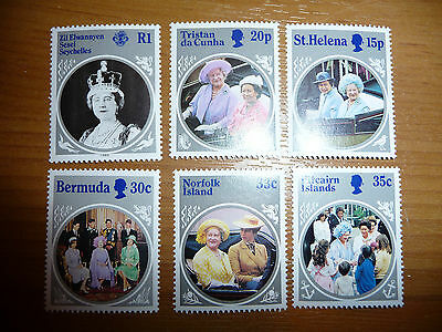Caribbean Islands stamps - set of 6 - pristine - must see