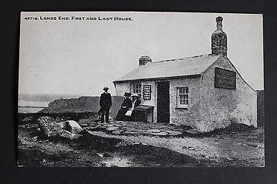 """GB Early PPC Unused """"Lands end, First & Last House"""" with Land's End Cachet"""