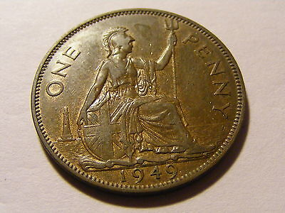 1949 George VI One Penny Coin  - Some Lustre