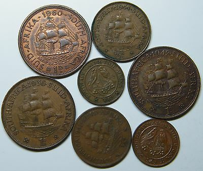 WCA South Africa Coins 1936 - 1960 Lot # S15