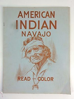 VTG 1962 Native American Indian Navajo Read And Coloring Book Eukabi Publishers