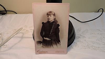 cabinet photo antique darling girl nice pose lots of buttons sweater Springfield