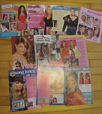 Fergie, Black Eyed Peas, Lot of TEN Full Page Pinup Clippings