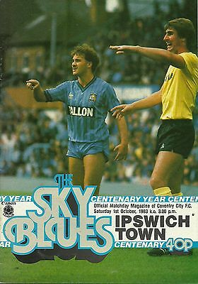 Coventry City V Ipswich Town  1/10/1983  Div 1       (1)