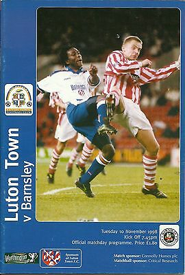 Luton Town V Barnsley 10/11/1998 League Cup 4Th Round  (4)
