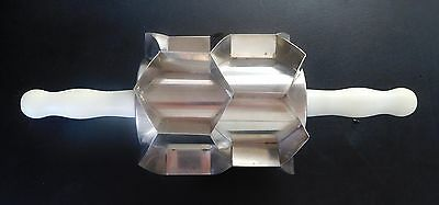 Moline HEX Scrapless Biscuit Cutter~12 Cavity Rolling Pin~3x2 Pastry Dough Donut