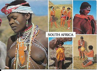 South Africa -  Multi View Ethnic  Xhosa Tribe - Postcard
