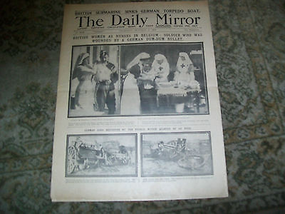 daily mirror newspaper october 8 1914