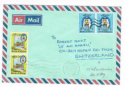 State Of Qatar Old Cover To Germany 1989   (B1/26)