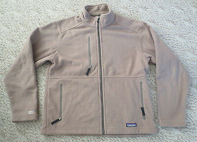 Patagonia Men's Synchilla Full Zip Fleece Jacket/Shirt Color Tan sz. Small S