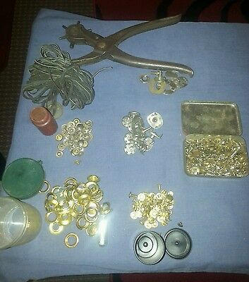 Leather Working Tools Brass Eyelets Poppers Studs Etc Leather Strands