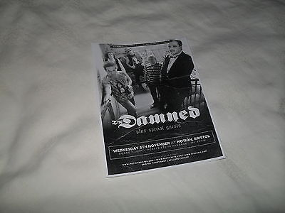 THE DAMNED - lovely tour flyer (MINT)