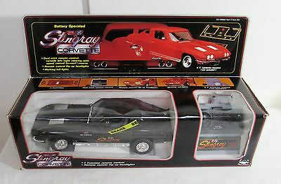 1963 Corvette Stingray Teathered Remote Control Car. Made In 1986 By New Bright