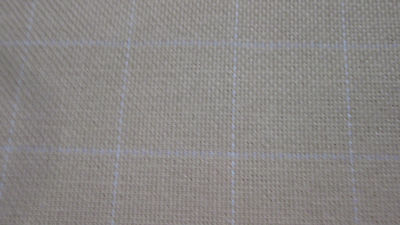 COTTON MONKS CLOTH  36 x 58 inches for Primitive Rug Hooking 2 X 2 grid natural