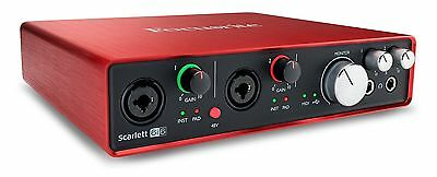 Focusrite Scarlett 6i6 2nd Gen 6 In/6 Out USB 2.0 Audio Interface New