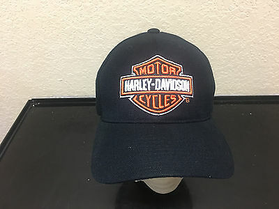 * Vtg wool AMERICAN NEEDLE fitted 7 1/8 HARLEY DAVIDSON large logo hat NEW