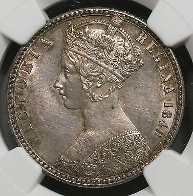 1849 NGC AU Gothic Florin Victoria GREAT BRITAIN Coin (16091116C)